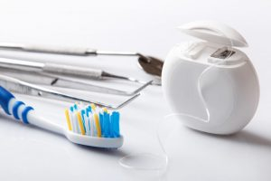 dental care brush and floss